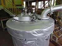 作業員が触れる箇所にえこきーぱーを取付たことにより、平均して50℃〜60℃まで表面温度が低下。